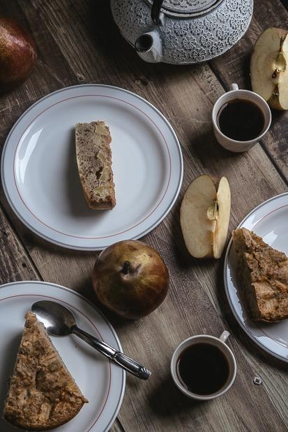 cake pomme noisette