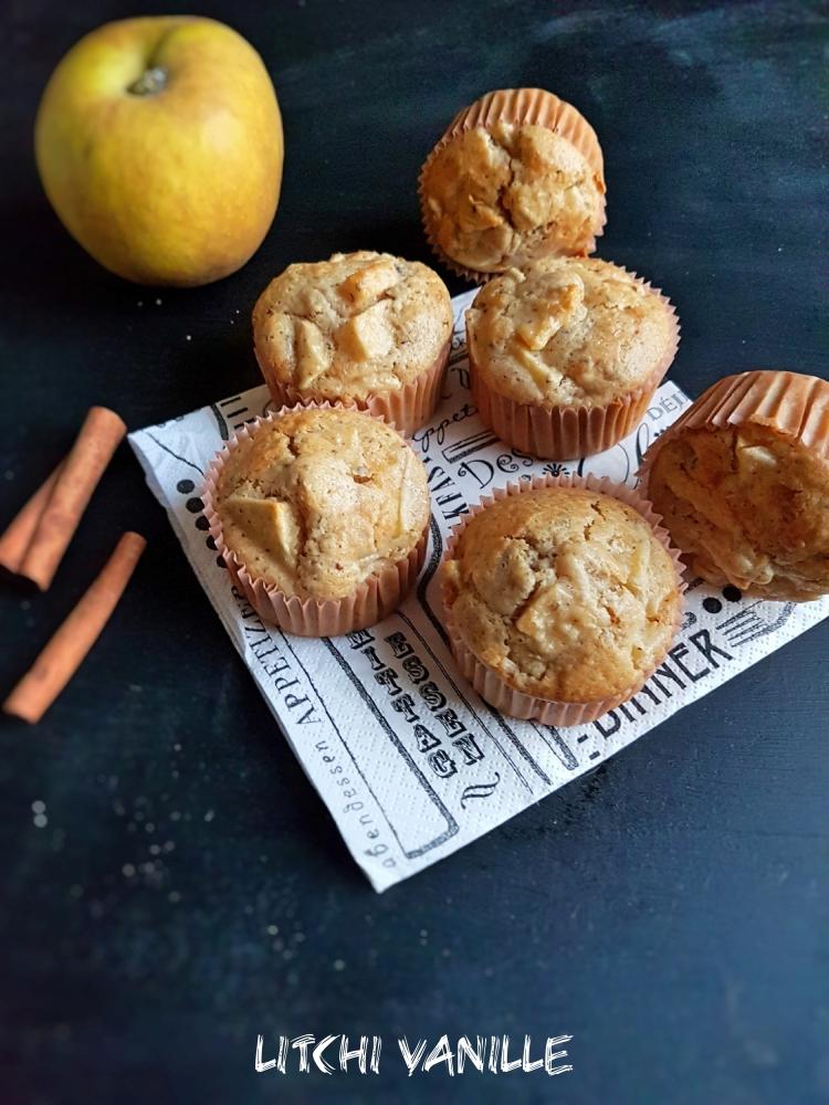 Muffins pomme noisette