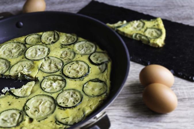 tortilla à la courgette