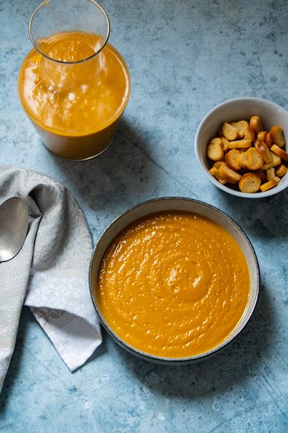 velouté carottes patate douce