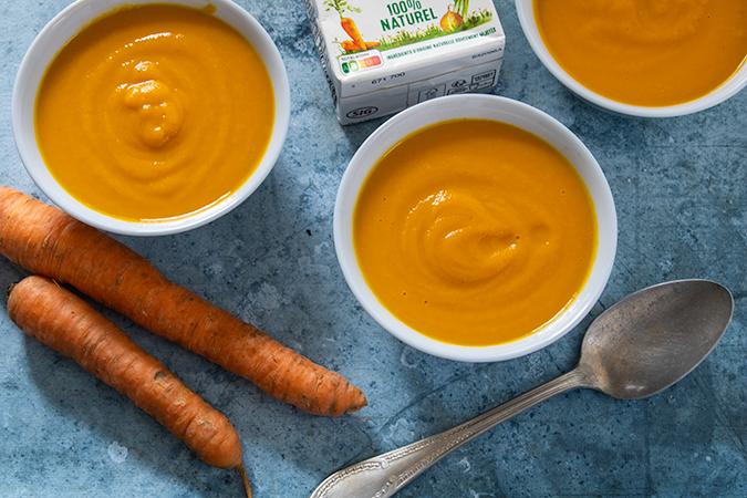 velouté de carottes au miso blanc