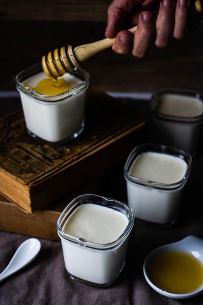 yaourts miel, fleur d'oranger