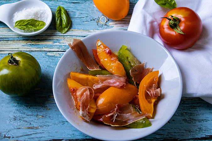 salade de nectarine rôtie