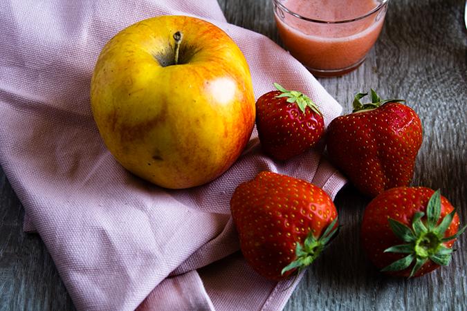 jus pommes fraises menthe