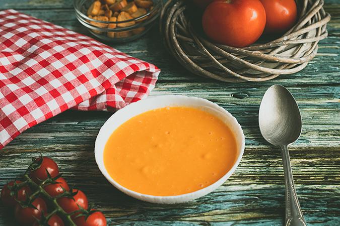 soupe de tomates rôties