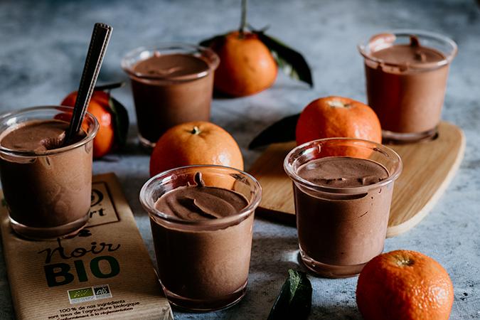 mousse au chocolat clementine