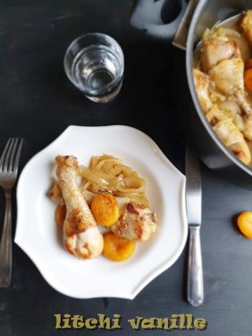 pilons de poulet aux abricots moelleux
