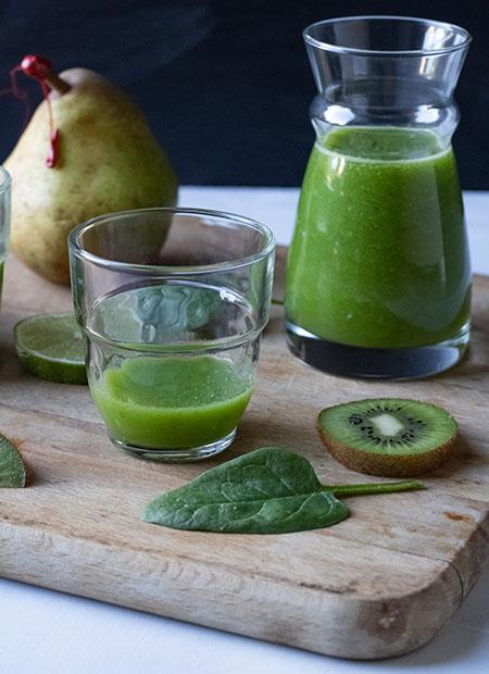 smoothie kiwi poire et épinard