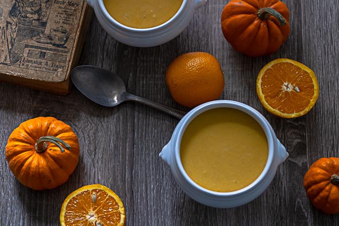 soupe de potimarron à l'orange