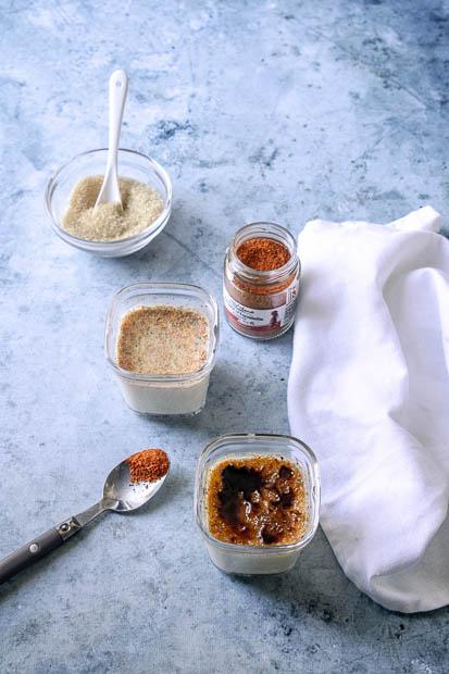 crème brulée au piment d'espelette